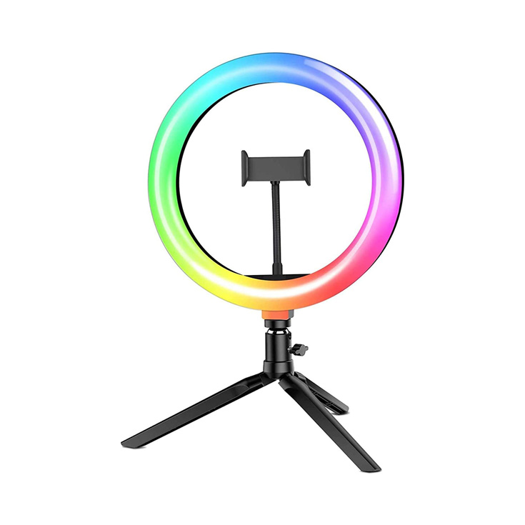 "ARO DE LUZ RGB LED 10"""
